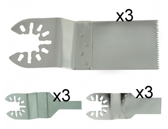 Stainless Steel Multi Tool Saw Blades - 9 Pack - Bundle